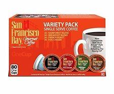 San Francisco Bay Variety Pack 80 count  K CUPS Keurig  Brewers