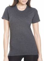 Next Level Women's Extreme Soft Rib Knit Crewneck T-Shirt, 3-Pack. 6610