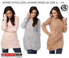 Wool Crew Neck Plus Size Long Jumpers & Cardigans for Women