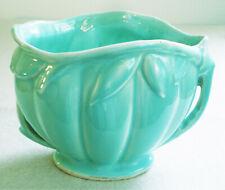 Vintage MC COY Aqua 2 Handled Ceramic VASE PLANTER POT