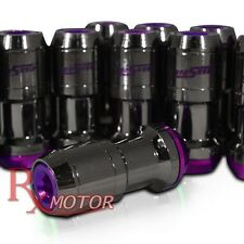 M12 X 1.5 MM FORMULA TUNER LUG NUTS OPEN CLOSE CAP END GUN METAL PURPLE