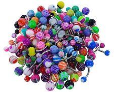 wholesale bulk lot 10 piercing navel belly ring bars jewellery stainless  steel