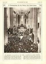 1916 Battle Of The Marne Anniversary Meaux Cathedral Thanksgiving