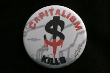 Communist Party America USA CPUSA Capitalism Kills Ecology Pin Badge Button 1.75