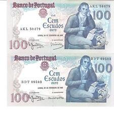 21201) PORTOGALLO POTUGAL 100 ESCUDOS DEL 1981 FDS UNC