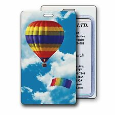 Rainbow Hot Air Balloon Luggage Bag Travel Tag 3D Lenticular #LT01-214#