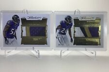 2016 Panini Flawless RAY LEWIS/ED REED 4 CLR Game-Used Logo Patch #'d/20 Ravens
