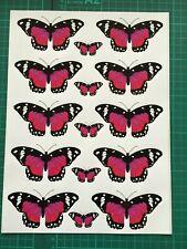 Killer Graffix Digitally Printed Pink Butterfly Stickers Car Boat Bike Caravan