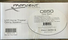 """Proficient Lcr Home Theater in Ceiling Speaker 6.5"""" Woofer C650 New In Box"""