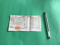 Amble Urban District Council 1932 Official stamped  receipt R37421