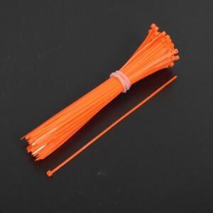 Collier de serrage cranté nylon orange fluo 2.5x200 rilsan colson moto scooter