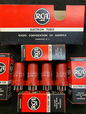 NOS NIB Matched Quad RCA 5693 Audio Tubes USA 1964