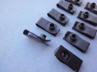 100* Befestigungsklammer Blechmutter Klammer Clips U-Form Metall Unterlegscheibe