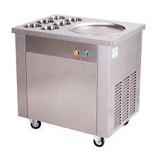 Commercial Fried Ice Cream Machine, Ice Crean Roll Making Machine 740W 220V
