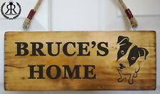 Personalised Jack Russell Name Plaque Plate Sign Dog Kennel House Gate Sign New