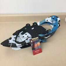 crescent moon snowshoes hike series new w/tags 21 aluminum frame 821 blue white