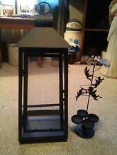 000 Metal Tea Light Carriage Lamp Angel Carousel Glass Sides