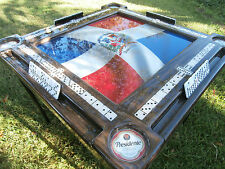 Domino Tables by Art with Bandera de la Republica Dominicana