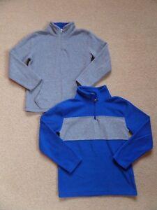 FABULOUS 2 x Boy's FLEECE Tops by THE CHILDREN'S PLACE Age 7-8 Blue Grey