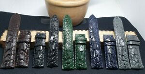 Genuine-hornback ALLIGATOR-CROCODILE-SKIN-WATCH-STRAP-BAND CUSTOM MADE REQUEST