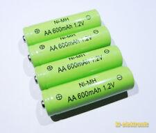 4 Stück 1,2V 600mAh AA NiMh Akku / Ersatz für Solarleuchte Solarlampe