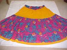 BLUE PINK Gold DAZZLING Skirt STUNNING LENGHA BALLROOM Belly Dance SKIRT GHAGHRA