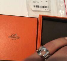 Authentic Hermes Silver Ring 5 7/8 NIB Bague Hera