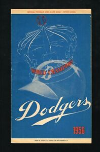 1956 Brooklyn Dodgers vs Pittsburgh Pirates Baseball Program Clemente Robinson