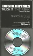 BUSTA RHYMES w/ MARY J. BLIGE Touch it REMIX & CLEAN PROMO CD single SWIZZ BEATZ