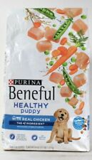 1 Bag Purina Beneful 3.5 Lb Healthy Puppy Real Chicken Peas Carrots Dry Dog Food