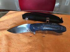 JD Van Deventer Kenpachi custom knife Damascus bolster