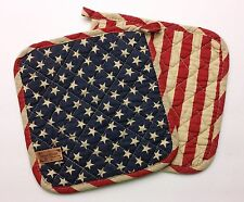 Great Finds BETSY Americana Quilted Cotton Pot Holders Set of Two (2)