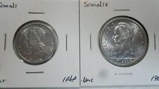 French Somaliland Djibouti 1 2 Francs 2Pcs Lot, 1959 1965, UNC