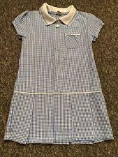 Girls TU Blue Check Summer Dress Age 3