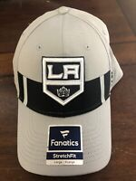Los Angeles Kings Fanatics Stretch Fit Hat Cap Large/XL Gray Jersey Speed Nhl
