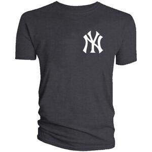 New York Yankees NY T-Shirt NYC Men Cotton Blend Chest