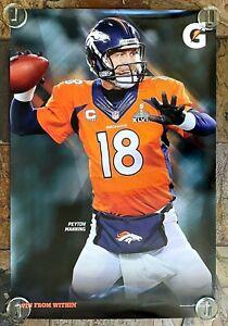 Gatorade Denver Broncos Peyton Manning Poster-Win From Within-Super Bowl-2014