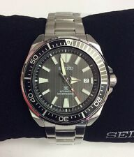 SEIKO PROSPEX Samurai Waffle Stainless Steel Black Dial Automatic WATCH SRPB51