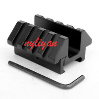 Double Side 45 Degree 20mm Picatinny Rail Weaver Mount for rifle sight Aluminum