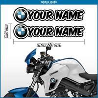 Adesivi stickers nome personalizzato BMW Motorrad adesivo R 1200 GS casco moto