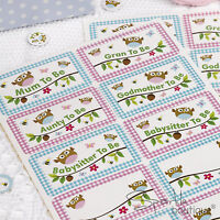 Baby Shower NAME STICKER BADGES -Gift for Mum-to-Be & Guests- FULL RANGE IN SHOP