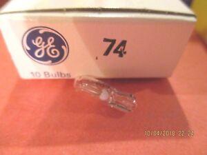 74---GE----CLEAR----12V -BULB---1-BOX--LOT OF 10