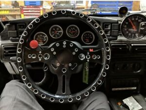 "13.5"" Super Lightweight 12 Gauge Racing Aluminum Steering Wheel 5-Bolt Pattern"