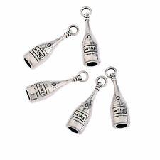 5Pcs tibetan silver wine bottle alloy Beads pendant charms fit bracelet 19x12mm