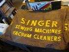 Vintage Union Canvas SINGER #4 SEWING MACHINE brown canvas Cover HUGE18X27X35