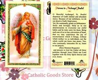 St. Jhudiel the Archangel with Novena to Saint Jhudiel -Laminated Holy Card