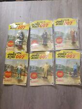 1965 James Bond 007 Figure #3 Through #9 in original packaging