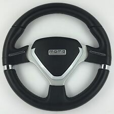 MOMO Millenium Evo 320mm black leather steering wheel. Genuine. TRULY SUPERB!