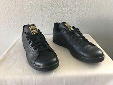New Adidas Originals Stan Smith BLACK/GOLD CROCS Shoes (AQ2726) Mens Size 11