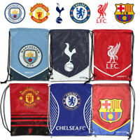 Football Team Gym Sack Sports Bag Man Utd City Spurs Liverpool Barcelona Chelsea